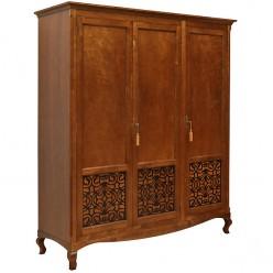 Трехстворчатый шкаф Валенсия для спальни «Видана Люкс» П445.01 Коньяк