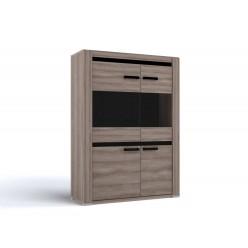 Двухстворчатый шкаф-витрина для посуды Б-3 (ЯТ) Бруна