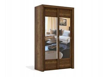 Двухстворчатый шкаф-купе для одежды Г-13 (ДГТ) Гарда с зеркалом