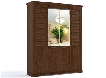 Четырехстворчатый шкаф для одежды СК-8 (ОРТ) Кантри с зеркалом