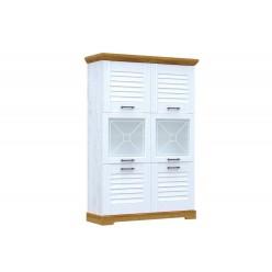 Двухстворчатый шкаф-витрина для посуды ГК-2 (СА/ОРН) Кантри