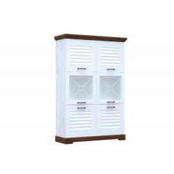 Двухстворчатый шкаф-витрина для посуды ГК-2 (СА/ОРТ) Кантри