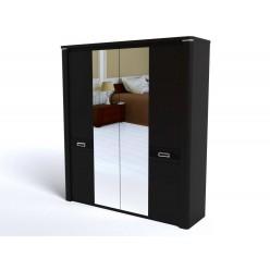 Четырехстворчатый шкаф для одежды СМ-10 (ДВ) Магнолия с зеркалом