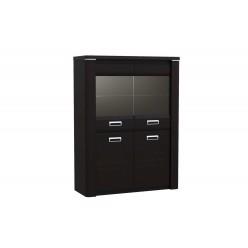 Двухстворчатый шкаф-витрина для посуды ГМ-5 (ДВ) Магнолия
