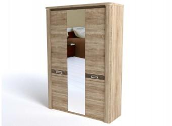 Трехстворчатый шкаф для одежды СМ-9 (ДБ) Магнолия с зеркалом