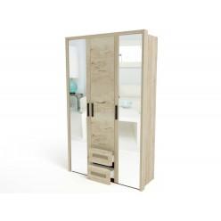 Трехстворчатый шкаф для одежды СМ-12 Мале с зеркалом