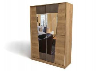Двухстворчатый шкаф-купе для одежды СС-14 Стреза с зеркалом