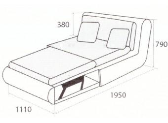 Модуль дивана Kormak (Кормак) 110Д правый