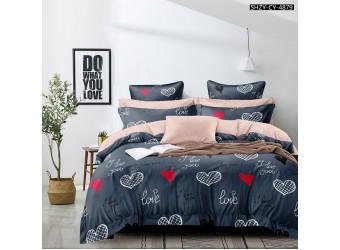 Комплект постельного белья Красно-черные собачки