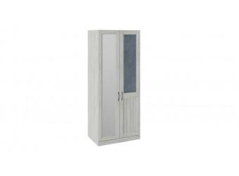 Шкаф для одежды с 1 глухой и 1 зеркальной дверью правый «Кантри» (Замша синяя/Винтерберг) СМ-308.07.021R (з)