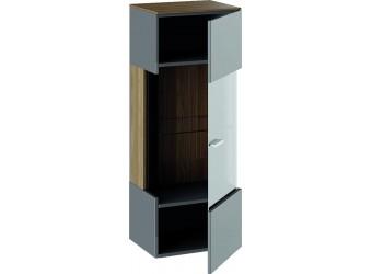 Шкаф навесной «Харрис» (Дуб американский/Серебряный гранит) ТД-302.03.25