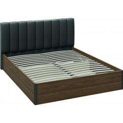 Кровать с подъемным механизмом и мягким изголовьем «Харрис» (Дуб американский/Серебряный гранит) СМ-302.01.008