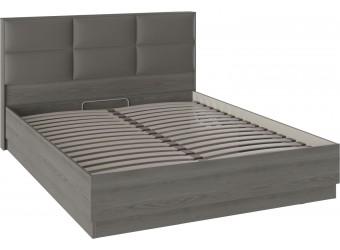 Кровать с подъемным механизмом и мягким изголовьем «Либерти» (Хадсон/Ткань Грей) СМ-297.01.002