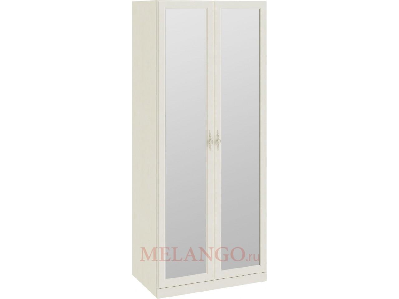 Шкаф для одежды с 2-мя зеркальными дверями «Лючия» (Штрихлак) СМ-235.07.04