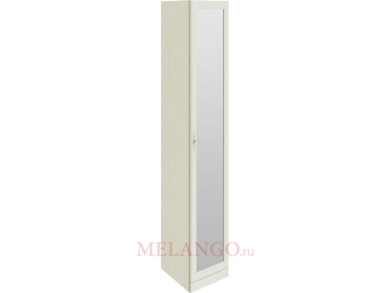 Шкаф торцевой с 1-ой зеркальной дверью «Лючия (Штрихлак) СМ-235.07.09