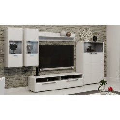 Гостиная «Наоми» №1 (Белый глянец) ГН-208.101