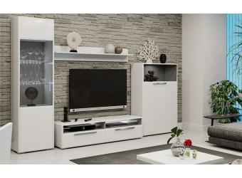 Гостиная «Наоми» №3 (Белый глянец) ГН-208.103