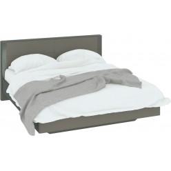 Двуспальная кровать «Наоми» (Фон серый, Джут) СМ-208.01.01