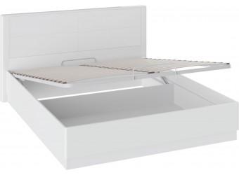Кровать «Наоми» с подъемным механизмом (Белый глянец) СМ-208.01.02