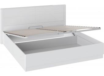 Кровать «Наоми» с подъемным механизмом (Белый глянец) СМ-208.01.05