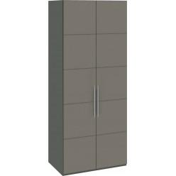 Шкаф с 2-мя дверями «Наоми» (Фон серый, Джут) СМ-208.07.03