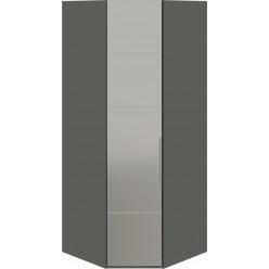 Шкаф угловой с 1-й зеркальной левой дверью «Наоми» (Фон серый, Джут) СМ-208.07.07 L
