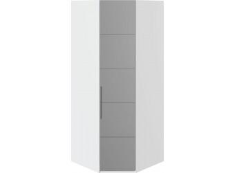 Шкаф угловой с 1-й зеркальной правой дверью «Наоми» (Белый глянец) СМ-208.07.07 R