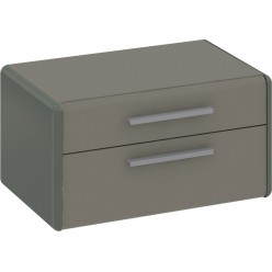 Тумба прикроватная «Наоми» (Фон серый, Джут) ТД-208.03.01