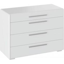 Комод с 4-мя ящиками «Наоми» (Белый глянец) ТД-208.04.01