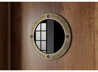 Шкаф комбинированный для одежды с иллюминатором «Навигатор» (Дуб Каньон) СМ-250.07.22