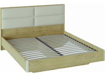 Двуспальная кровать «Николь» с мягким изголовьем (Бунратти/Фон Бежевый) СМ-295.01.003