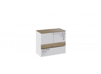 Тумба с ящиком и 2-мя дверями «Оксфорд» (Ривьера/Белый с рисунком) ТД-139.04.01