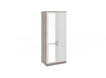 Шкаф для одежды с 1-ой глухой и 1-ой зеркальной дверями «Прованс» СМ-223.07.005L