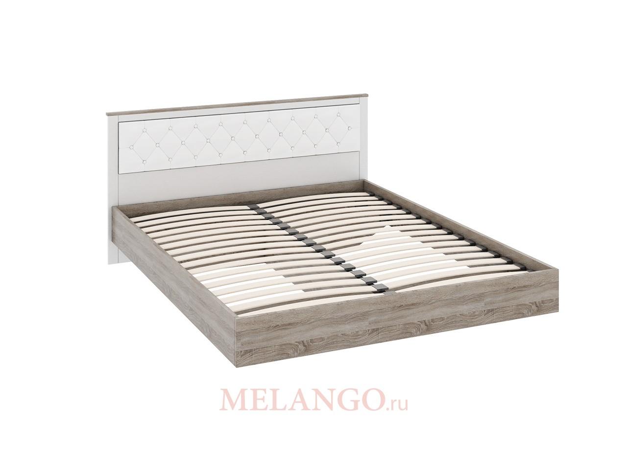 Двуспальная кровать с мягкой спинкой «Прованс» СМ-223.01.005