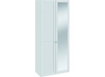 Шкаф для одежды с 1-ой глухой и 1-ой зеркальной «Ривьера» (Белый) СМ 241.22.002L