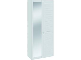 Шкаф для одежды с 1-ой глухой и 1-ой зеркальной «Ривьера» (Белый) СМ 241.22.002R