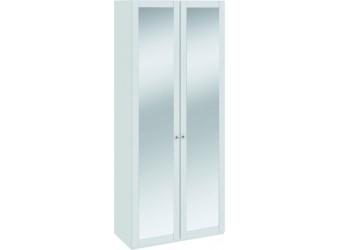 Шкаф для одежды с 2-мя зеркальными дверями «Ривьера» (Белый) СМ 241.22.102