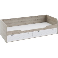 Кровать с 2-мя ящиками «Ривьера» (Дуб Бонифацио/Белый) ТД-241.12.01