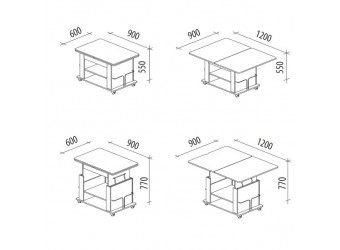 Раздвижной журнальный столик Агат 19.2 дуб кобург