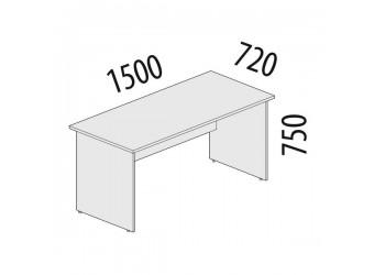 Рабочий стол Альфа 61.10 для офиса