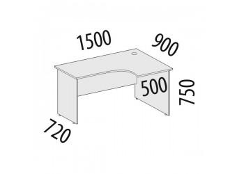 Угловой компьютерный стол Альфа 61.21 правый