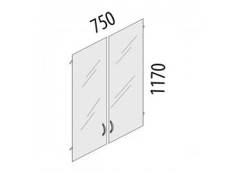 Стеклянные дверцы для шкафа Альфа 61.38