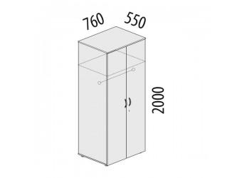 Двухстворчатый шкаф для одежды Альфа 61.42