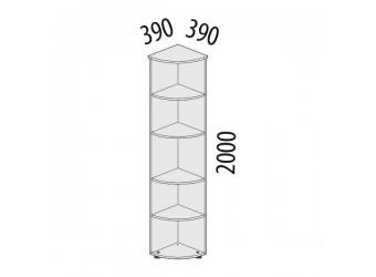 Угловой стеллаж Альфа 61.49