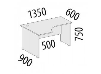 Угловой компьютерный стол Альфа 61.62 левый