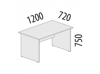 Рабочий стол Альфа 62.11 для офиса