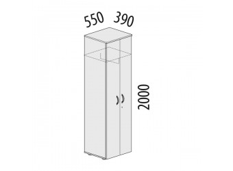 Двухстворчатый шкаф для одежды Альфа 62.43