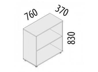 Офисный шкаф Альфа 63.41 (2 секции)