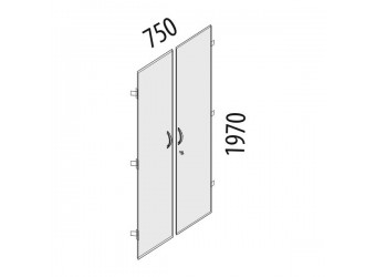 Дверцы для шкафа Альфа 63.58 с замком