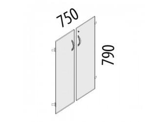 Дверцы для шкафа Альфа 63.59 с замком